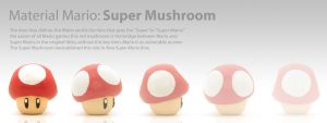 Material Mario: Super Mushroom by immortalomni