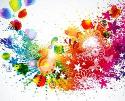 Abstract Floral Design Colorful Background Vector  by freebiespsd