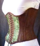 Green underbust corset by LillysWorkshop