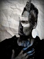 Crumpled paper portrait 25 by April-Mo