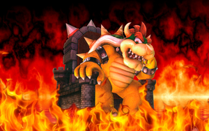 Bowser in his trone by JagGentlemann