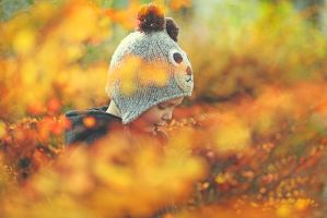 it's autumn, little bear III by AlicjaRodzik
