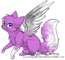 Pink Winged Canine - 20pts by drakeanddestleradopt