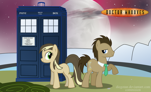 Commision: Doctor Whooves and his Companion by DiegoTan