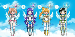 Heaven Sailor Senshi Batch Adoptables CLOSED by YukiMiyasawa