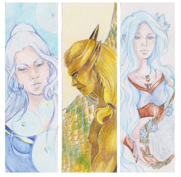 Traditional Bookmarks- Alynis and Radonaar by Lilith-the-5th