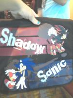 Sonic and shadow bag X3 by SonicMiku