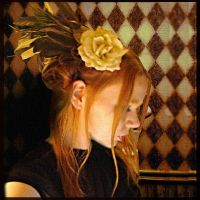 Ivory Rose Hair Fascinator by SteamSociety