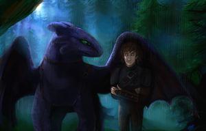 Hiccup and Toothless by DreamyArtistRoxy3