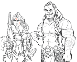 Orc siblings by Rigrena