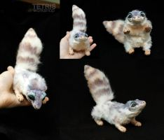 Poseable doll eublepharis lizard by KrafiCat