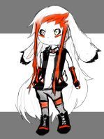 Commission-Gothic Red, Black, and White Bunny Boy by flarechess