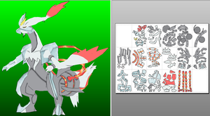 White Kyurem xy papercraft done by javierini
