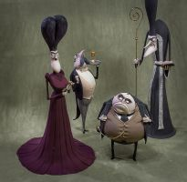 Handmade figures from cartoon Corpse Bride by Vint1k