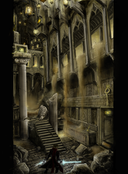 City in the shifting sands by Travis-Anderson