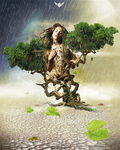 Rain giving a life by Statique77