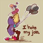 Clown - I hate my job. by chocoanillaberry