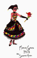 Harlequin for Mardi Gras by PlaidTidings