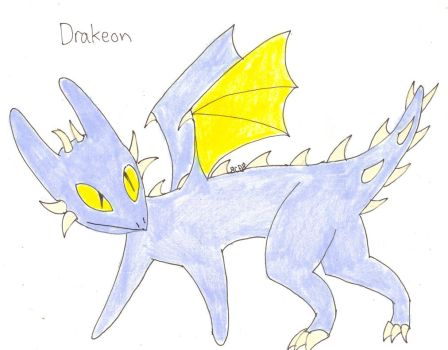Fakemon: Drakeon by 8ClockworkPurple8