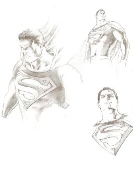 my reslistic superman sketch by Tyo-Kuuma