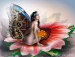 Butterflower by tanya-and-coffee