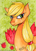 Flower Series: Applejack by MadBlackie