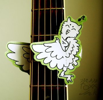 guitar owl by FoxxInk