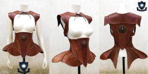 Arya Leather underbust and Shrug by LipCreativeStudio