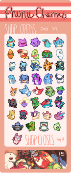 Pokemon Phone Charms! II by Ryushay
