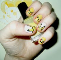 Pokemon . Pikachu Nails by RoxysSlushPuppie