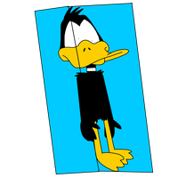 Daffy Duck frozen on ice cube by ElMarcosLuckydel96
