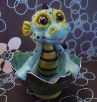ooak baby dragon by crazylittlecritters