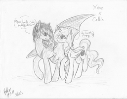 Xane and Callie As Ponies_ PONEH PAIRINGS! XD by Princess-Seraphim
