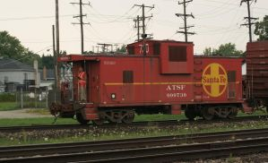 Argonne Local Caboose Leading Home by JamesT4