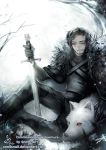 Jon Snow and Ghost by SnellSnail