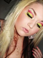 Magenta and lime green 2 by MakeupbyRMF