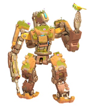 Overwatch - Bastion Overgrown Skin Render by Akaniya