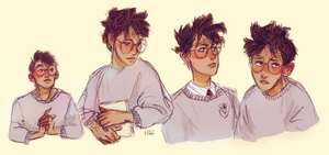 Harry doodles by Natello