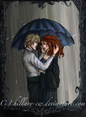 Under an Umbrella- colored by Hillary-CW