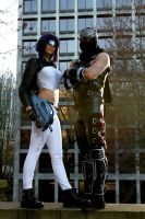 Motoko and Ryu by MissSinisterCosplay