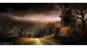 Fable 2 town by COEURDECRISTAL