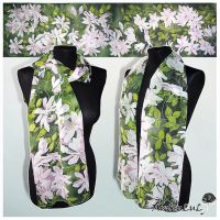 Silk scarf CLEMATIS - FOR SALE by MinkuLul