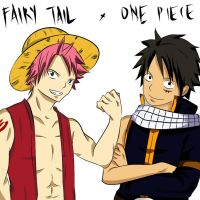 Solo Event - Natsu and Luffy - Crossover by Kohaya7Kae-13