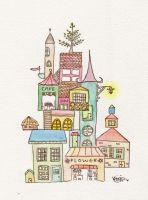 Crooked Village by peppermintlight