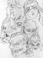 Sketchin Heads by Edant
