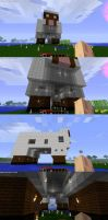MineCraft - The Sheep House by Loverofpiggies