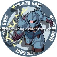 MS-07B Gouf by darksonwong