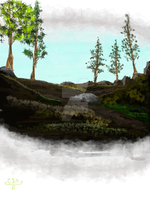 Landscape Digital Painting by CINSHAW