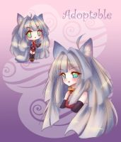 Silver Wolf Girl Adoptable [CLOSED] by LittleRueKitty