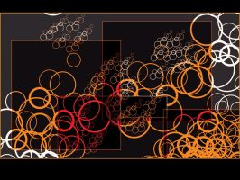orange and black bubbles by 000nevermore000